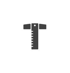 t-square icon vector image