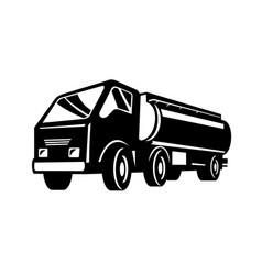 tank truck fuel truck tanker or tanker truck low vector image