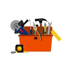 Toolbox for DIY house repair vector image
