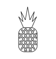 Tropical pineapple fruit beach tourism concept vector
