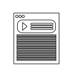 Webpage over white vector