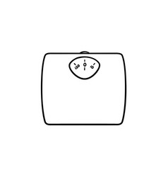 weight scale hand drawn outline doodle icon vector image