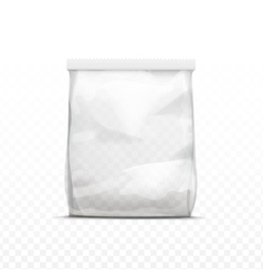 White Vertical Sealed Transparent Plastic Bag vector