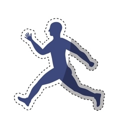 woman running fitness vector image