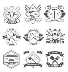 Work Tools Label Set vector