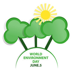 world environment day emblem vector image