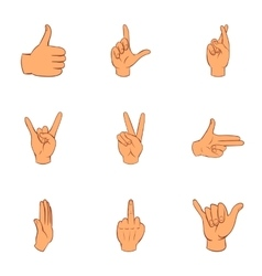 Gesture icons set cartoon style vector image