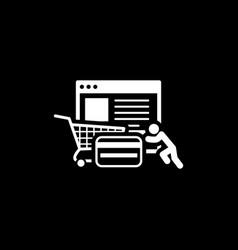 Integrated payment systems icon flat design vector