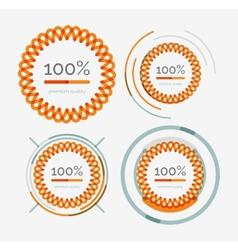 Thin line neat logos premium quality stamp set vector image vector image