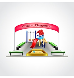 Children playground isolated vector image vector image
