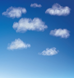 Clouds with blue sky vector image