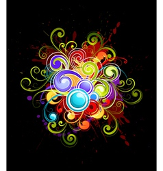 colorful curls vector image vector image