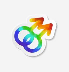 Gender identity icon Gay symbol vector image vector image