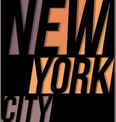 new york city t-shirt tee design typography print vector image vector image