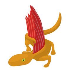 dinosaur lizard icon cartoon style vector image vector image