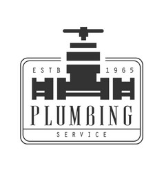 plumbing repair and renovation service black and vector image
