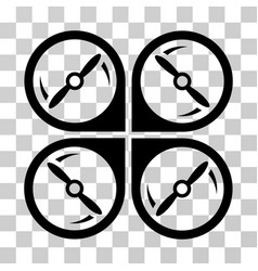 quadcopter screws rotation icon vector image vector image