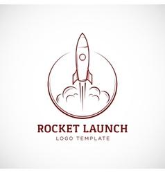 Startup Rocket Space Ship Abstract Logo vector image