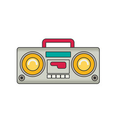 tape recorder flat vector image