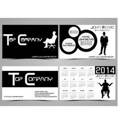 business card abstract creative set 5 vector image