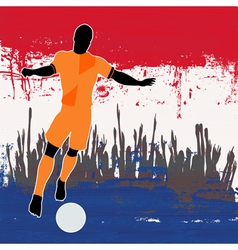 Football Netherlands vector image vector image