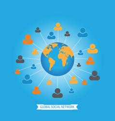 global social media network vector image