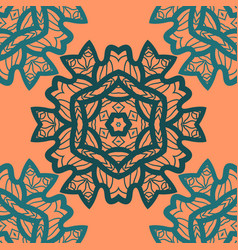 oriental ornament pattern in orange color vector image