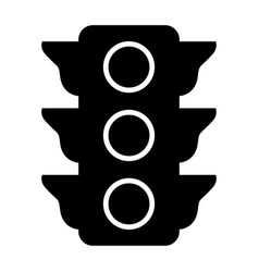 traffic light the black color icon vector image