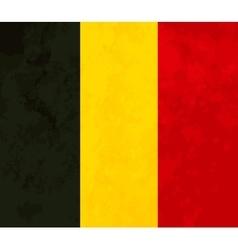 True proportions belgium flag with texture vector