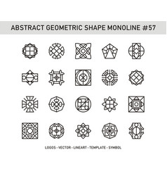 Abstract geometric shape monoline 57 vector