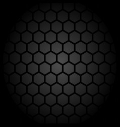 abstract honey comb pattern grey design vector image