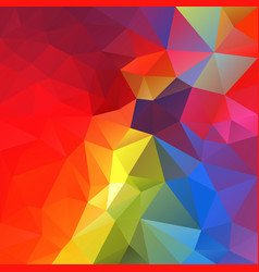 abstract polygonal square background rainbow vector image