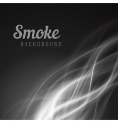 Abstract smooth smoke background vector