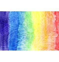 Abstract watercolor rainbow colors background vector image