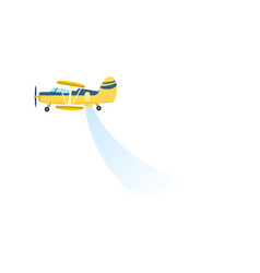 Airplane spraying field icon vector