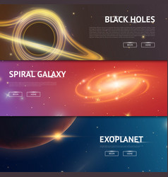 Astronomical galaxy space background planets in vector