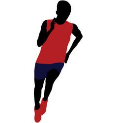 Athlete man running sprint vector