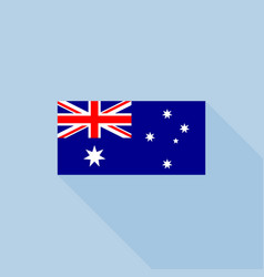 australia flag in official proportions vector image