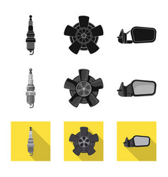 auto and part symbol vector image