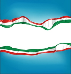 background with Italian and mexican flag vector image