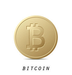 bitcoin icon isolated on white background design vector image