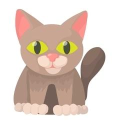 Cat icon cartoon style vector