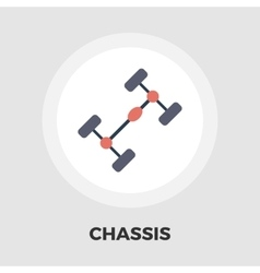 Chassis car flat icon vector