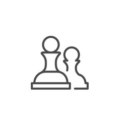 Chess figure line outline icon vector