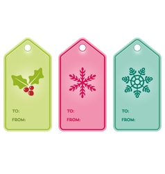 Christmas present hang tags vector