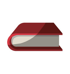 Colorful graphic of thick book without contour and vector