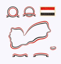 Colors of Yemen vector image