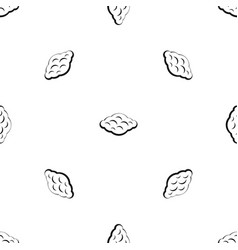 curly cloud pattern seamless black vector image