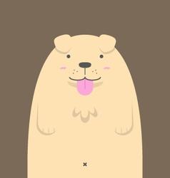 Cute big fat Golden Retriever dog vector