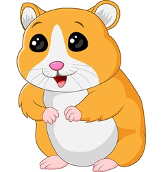 Cute hamster posing isolated on white background vector image